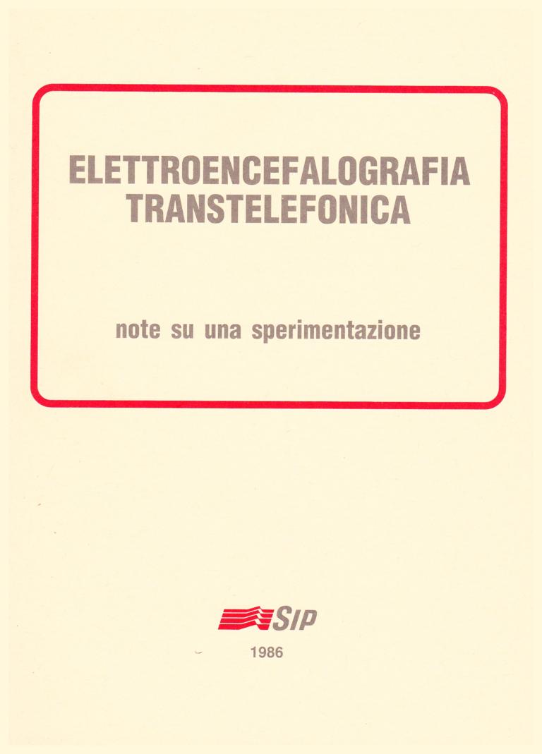 """Copertina del volume """"Elettroencefalografia Transtelefonica"""""""